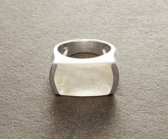 Argent Sterling 925 turc fait main 7 rangée Multicolore Carré Eternity Ring