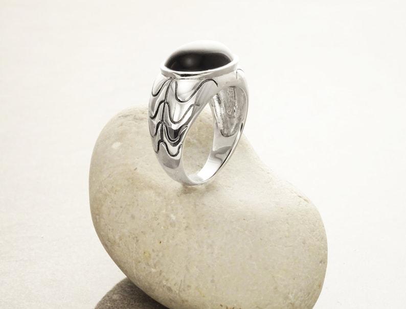 Oval Signet Ring Hipster Ring Modern Tribal Man Ring image 0