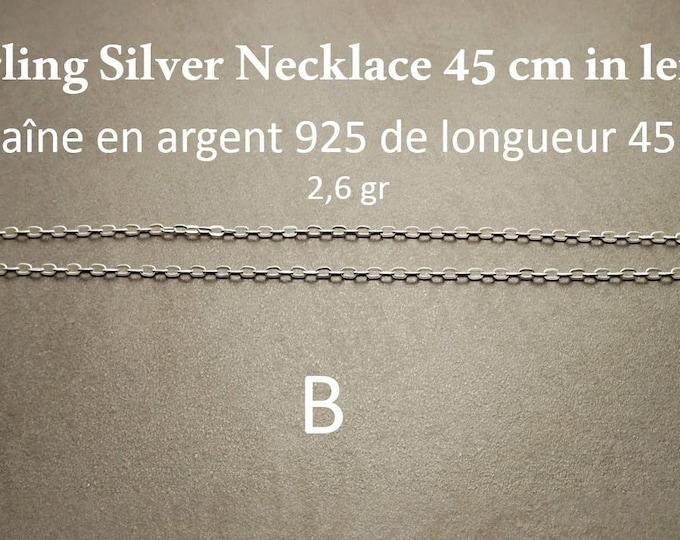 Sterling Silver Chains 40 cm / 45 cm / 50 cm / 55 cm / 60 cm / 70 cm