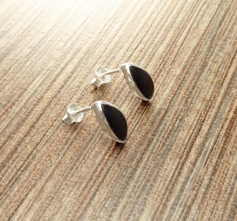 Black Onyx Stud Earrings Sterling Silver Earrings onyx image 0
