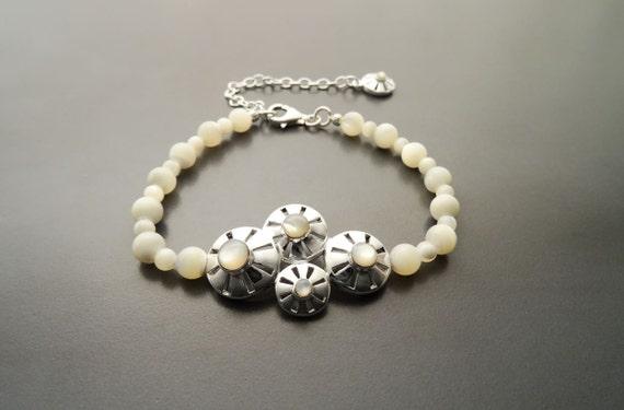 Boho Pearls Bracelet - Sterling Silver - Pearl Bracelet -Filigree - Lace - Indie Bracelet - Boho Bracelet - Hipster Bracelet - Fashion Pearl