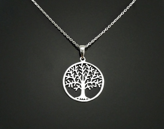 Tree of Life Necklace, Sterling Silver, Filigree Necklace, Nature Pendant, Woman Jewelry, Tree of Knowledge, Genealogical Tree, Boho gift