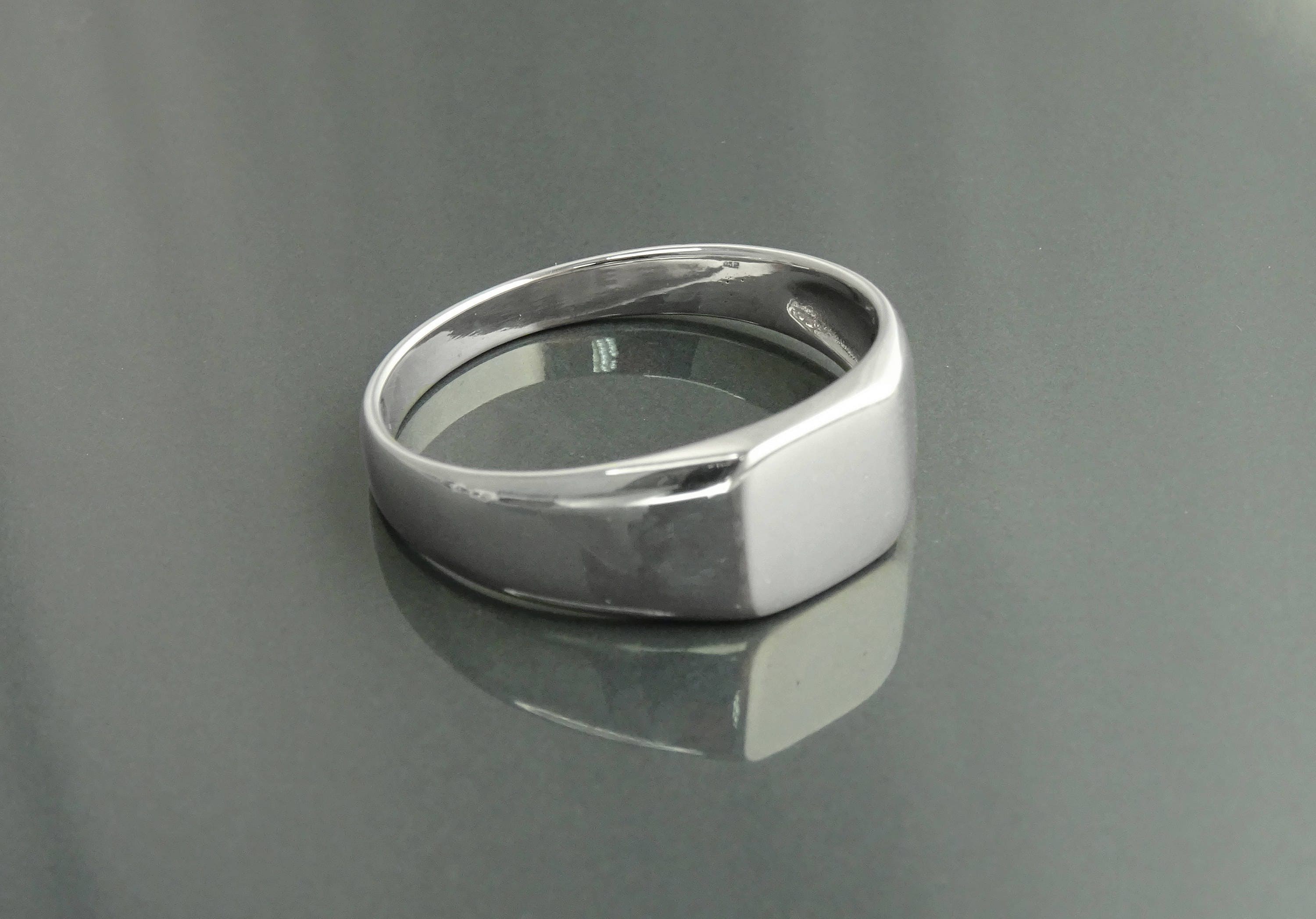Mens Signet Ring Sterling Silver925 Classic Signet Men Ring Small
