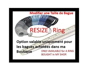 Resize Ring, Enlarge or Shrink, if your size is NOT Available. Only for KRAMIKE Rings.  Resize MAXIMUM 5 Sizes Bigger or Smaller.