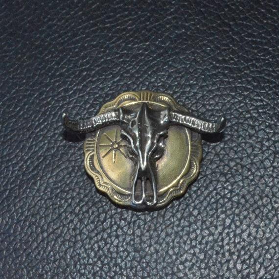 Solid Copper Classic bull head Skull Screwback Conchos DIY Leather accessories