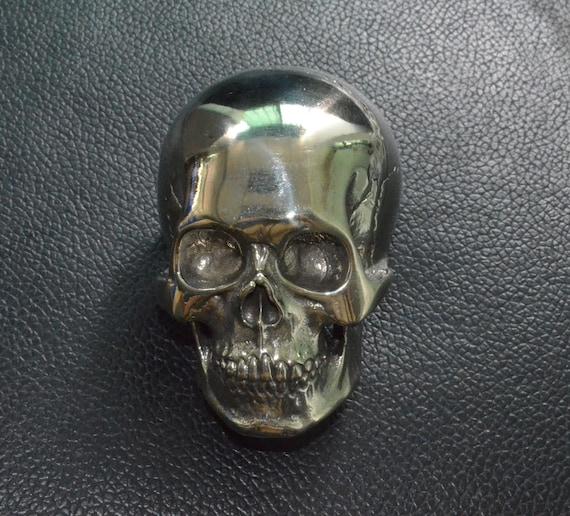 Biker Skull Yard Belt Buckle 925 Sterling Silver Custom Handcrafted One Of A Kind!