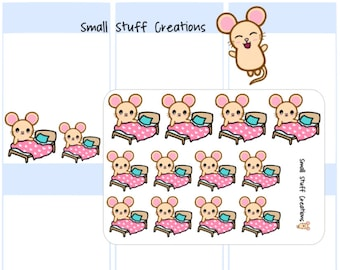 Cute Change Sheets/Bed/Tidy Stickers - fits all planners!