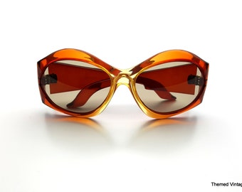 d54d2dca9c Vintage French sunglasses eyewear made in France 1960s oversized glasses