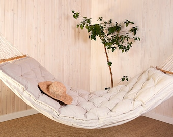 Wool Hammock Cushion / Hammock is Optional / Oeko-tex Certified Wool Filling / All Natural / Any size on request