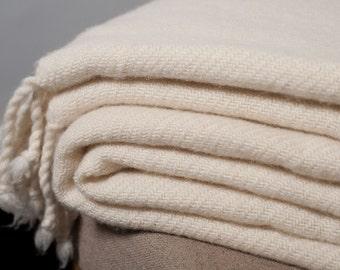 """Merino Wool Blanket / 59"""" x 79"""" (150 x 200 cm) / Wool Throw Blanket"""