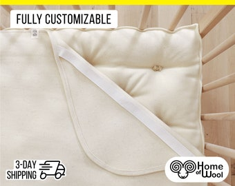 Washable Wool Puddle Pad / Protector / Moisture Barrier / Express 3-day Shipping / All-Natural, Synthetic free / ANY SIZE on Request