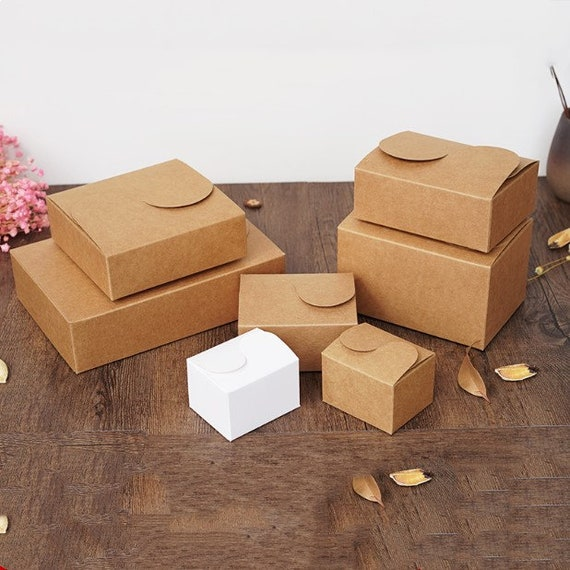 Lolly Boxes Set Home, Furniture & DIY Wedding Favours 50PCS Wedding Xmas Brown Kraft Bomboniere Favour Boxes