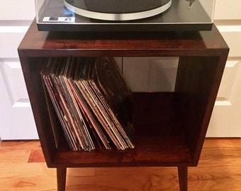 record player furniture pinterest solid walnut retro midcentury record player turntable stand console table player cabinet etsy