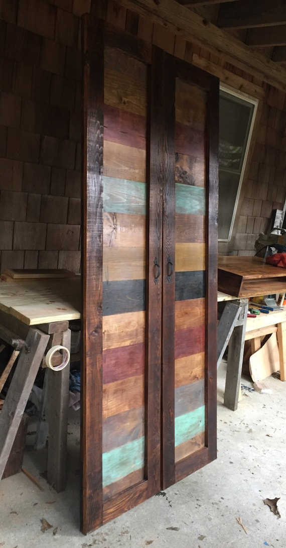 Two Rustic Farmhouse Barn Door For Pantry Etsy