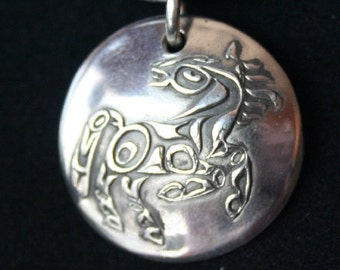 Tribal Horse in Sterling Silver