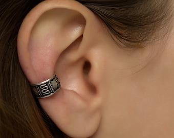 Sterling Silver Ear Cuff. Earcuff. Bohemian Cuff.