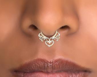Fake Septum Ring. Brass Septum Ring. Indian Septum Ring. Septum Piercing. Fake Septum. Septum Jewelry. Brass Septum Ring. Septum Ring
