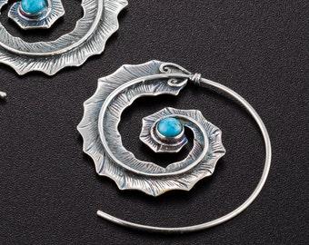 Ethnic Earrings. Boho Earrings. Boho Chic. Tribal Earrings. Hippie Earrings. Boho Jewelry. Large Earrings