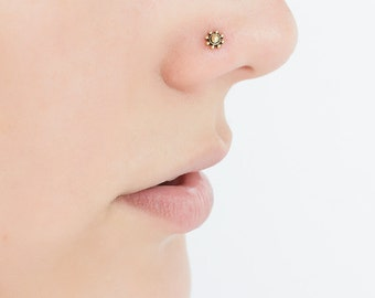Strong-Willed Silver Nose Stud Nose Stud 20g Nose Jewelry Indian Nose Ring Sapphire Nose Stud Body Piercing Jewelry