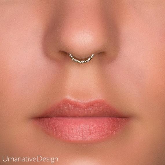 Faux Septum Fake Septum Ring Fake Nose Ring Fake Piercing Etsy