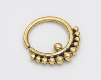 16g Tribal Septum Ring for pierced nose. septum piercing. brass septum ring. tribal brass septum ring.  tribal septum. brass septum. rs39
