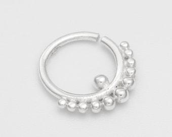 18g Septum Ring for pierced nose. septum piercing. silver septum ring. tribal septum ring. septum jewelry. septum ring 18g.
