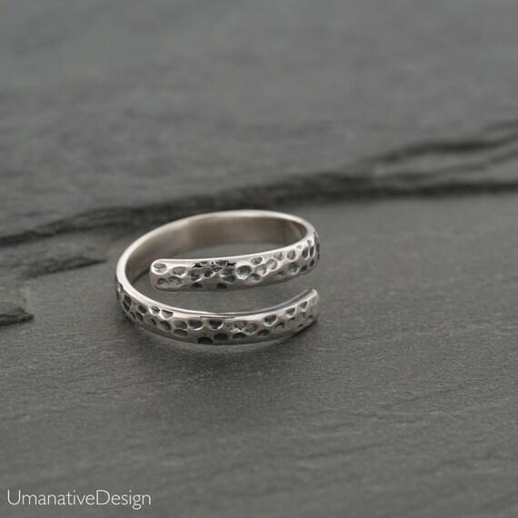 Silver Midi Ring Adjustable Midi Ring Hammered Midi Ring Adjustable Toe Ring Hammered Toe Ring Silver Toe Ring Sterling Silver Ring