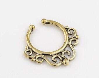 Fake septum ring for non pierced nose