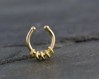 Septum Clip. Fake Septum Ring. Septum Cuff. Septum Ring. Tribal Septum Ring. Tribal Septum. Faux Septum. Fake Septum Piercing. Fake Piercing