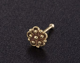 Flower nose stud. nose piercing. nose jewelry. nose stud gold. nose ring stud. flower nose stud. nose ring. silver nose stud. tribal jewelry
