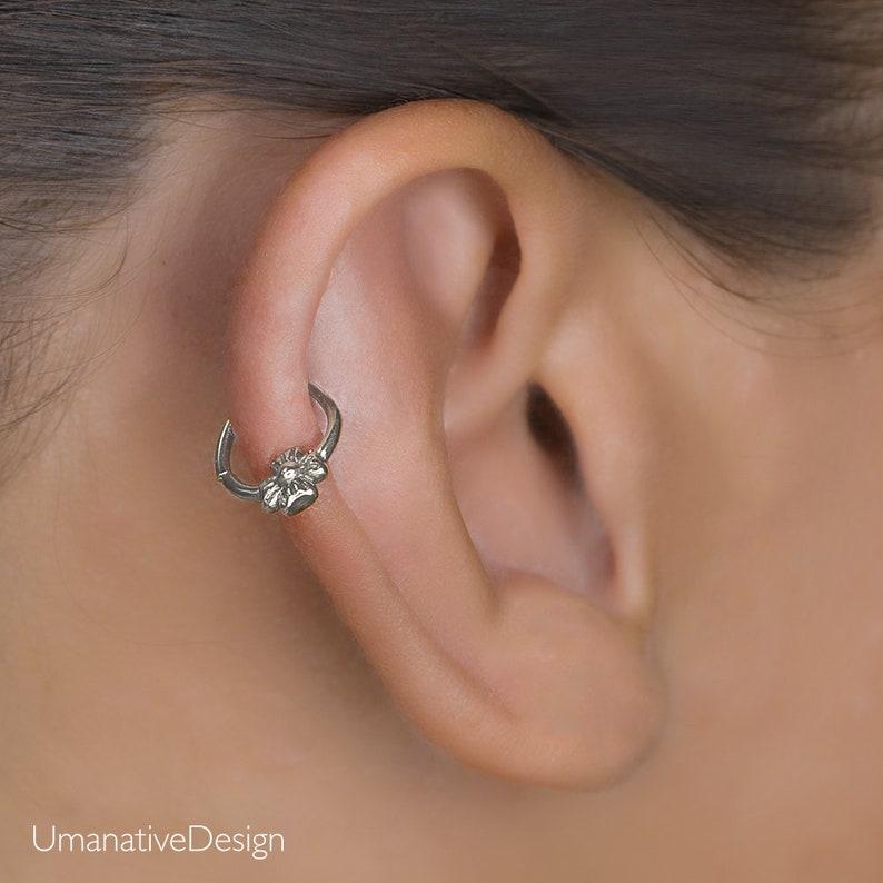 9ac844045 Helix Earring Daith Piercing Cartilage Hoop Tiny Hoop | Etsy