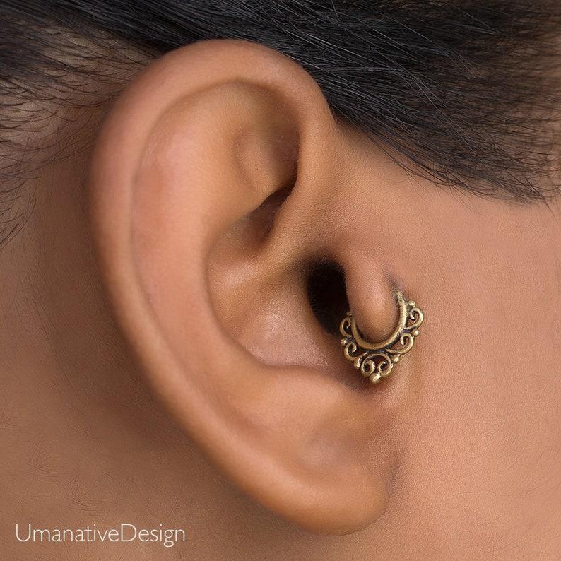 18g Tragus Piercing Gold Cartilage Hoop Helix Earring Daith Piercing Cartilage Jewelry Tragus Earring Cartilage Earring Helix Hoop