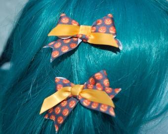 Halloween Pumpkin Jack O lantern bows