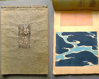 "1902, Japanese antique woodcut design book, Kamisaka Sekka, ""Kairo (wave design)"", original 1st edition."