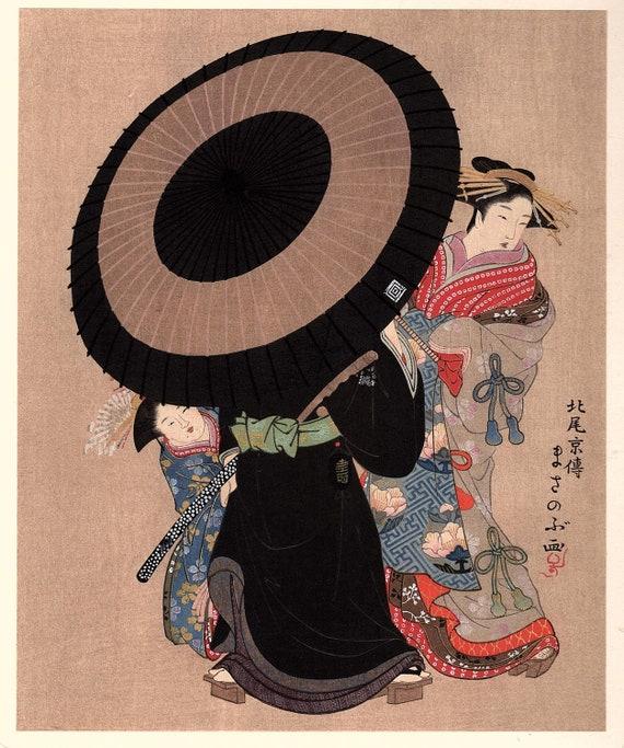 Yukioka Sekkai Japanese antique woodblock print from Ukiyoe-ha-gashu. 1906