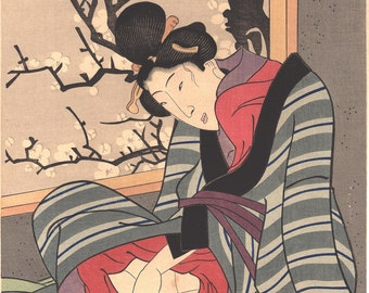 Japanese Ukiyo-e Woodblock print, Toyokuni.