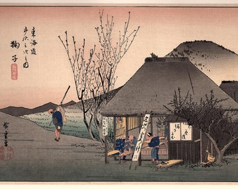 1906, Japanese antique woodblock print, Utagawa Hiroshige, from Ukiyoe-ha-gashu.