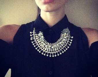 """Stacked Statement Necklace- """"Absolution"""" Wrecklace"""