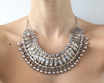 """Stacked Statement Necklace- """"Uno"""" Wrecklace"""
