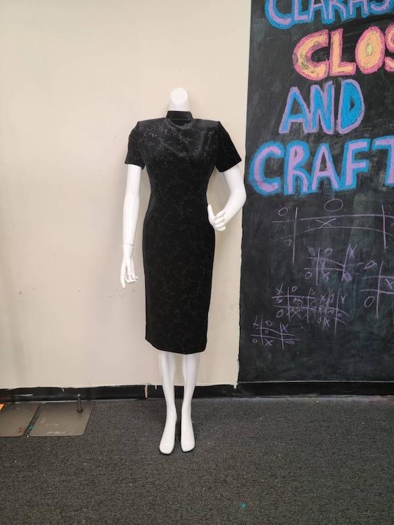 Vintage Petite Black Oriental Inspired Dress