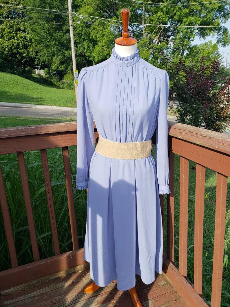 fabf4eadfa3 Vintage Lawrence Greer Sheer Long Sleeved Prairie High Collar