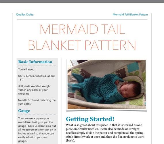 Meerjungfrau Schwanz Decke Strickmuster stricken Babydecke | Etsy