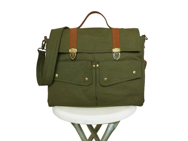 Diaper bag dark olive green/Messenger bag/Diaper bag image 0