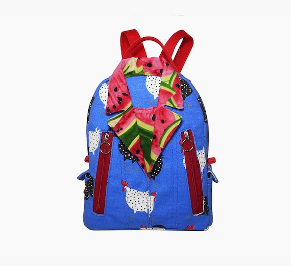 Small Backpacks Blue Shirt Style Backpack Kids Backpack Travel Etsy
