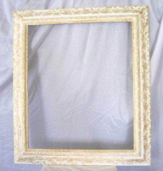 Frame Vintage Frame 1940\'s picture frame White and Gold | Etsy