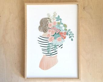 Nice pink bouquet - AFFICHE A4