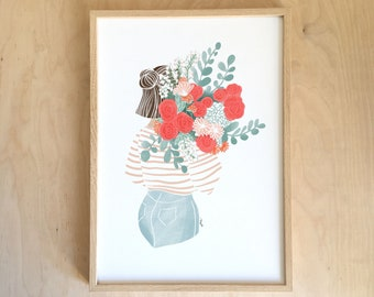 Nice red bouquet - AFFICHE A4