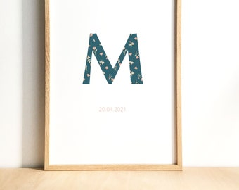 Blue Initial - PERSONALITICALISABLE AFFICHE