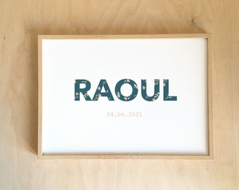 Raoul's rolling!  - BLUE PERSONALISABLE AFFICHE