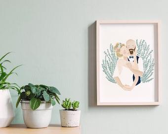 Couple - custom-made A4 portrait